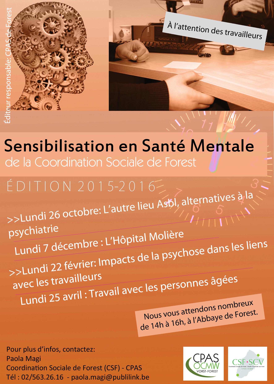 Programme Sensibilisation Santé Mentale 2015 - 2016