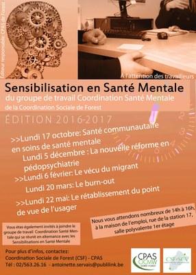 Sensibilisation Santé Mentale 2016 - 2017
